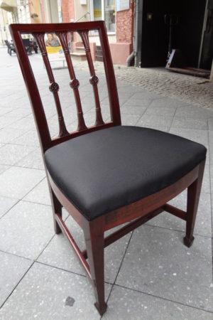 Empire-Stühle um 1780, Mahagoni 12er Satz