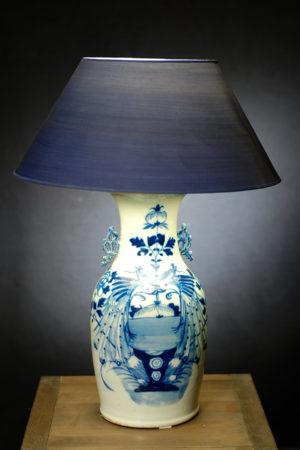 Lampe aus alter chinesischer Vase