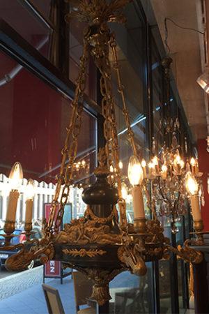 Empirelampe um 1780/1800